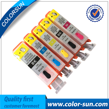 5pcs BCI-320 BLI-321 Refillable ink cartridges empty for Canon MP540 MP620 MP630 MX860 MX870 printer cartridge with chips image
