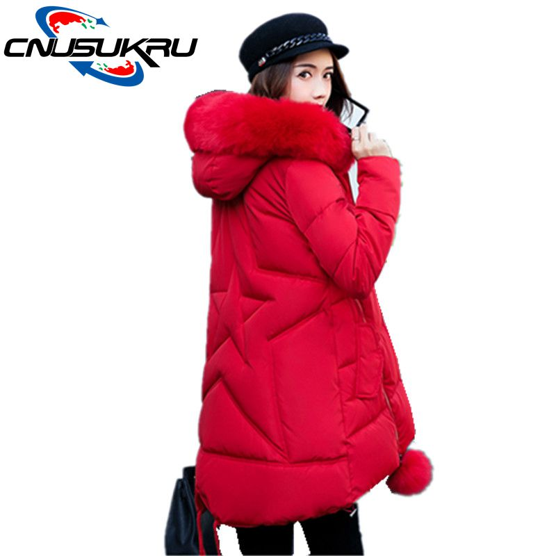 New Winter Jacket Women Long Down Cotton Hooded Coat Parka Female Large Size Thickening High Quality Outerwear For Snow Season women winter down jacket coat wadded jacket middle age women thickening outerwear female down coat vestidos