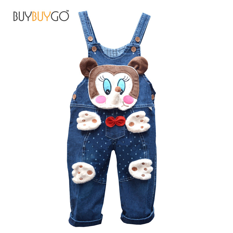 Baby Rompers Brand High Quality Denim Overalls Infant Clothing 2016 Autumn Animal Baby Boy Girl Jeans Jumpsuit Baby Clothes 0-2Y iyeal baby girl clothing spring 2017 bebe jeans overalls lace rompers infantil jumpsuit for toddler infant denim coveralls