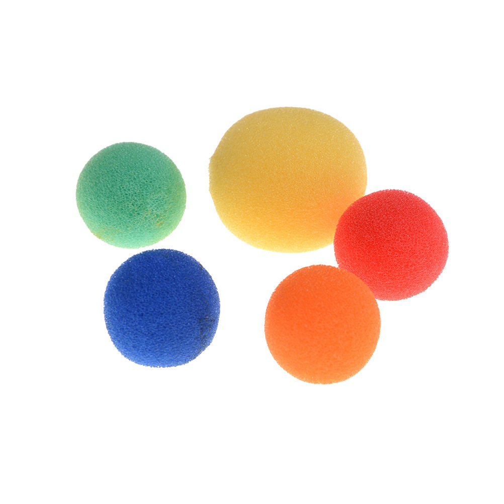 5Pcs Finger Close Up Magic Props Soft Sponge Toy Balls Street Classical Comedy Stage Tricks 5 Colors Size S M