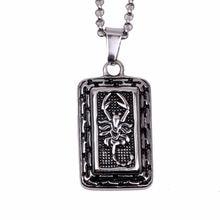 Нержавеющая сталь Скорпион ожерелье подвеска животное ювелирные