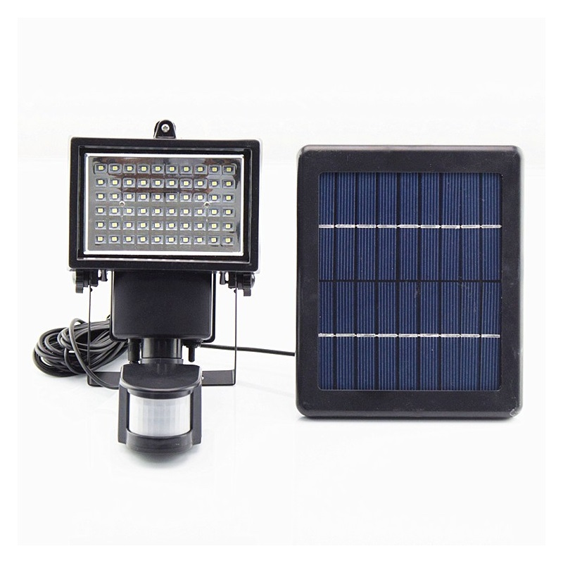 split type solar powered street floodlights 60 led ip65 outdoor pir body induction motion sensor garden