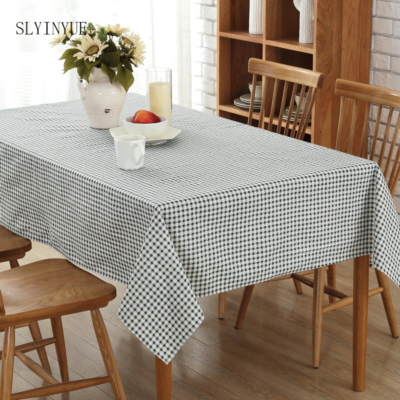 Plaid Table Cloth Living Room Coffee Hotel