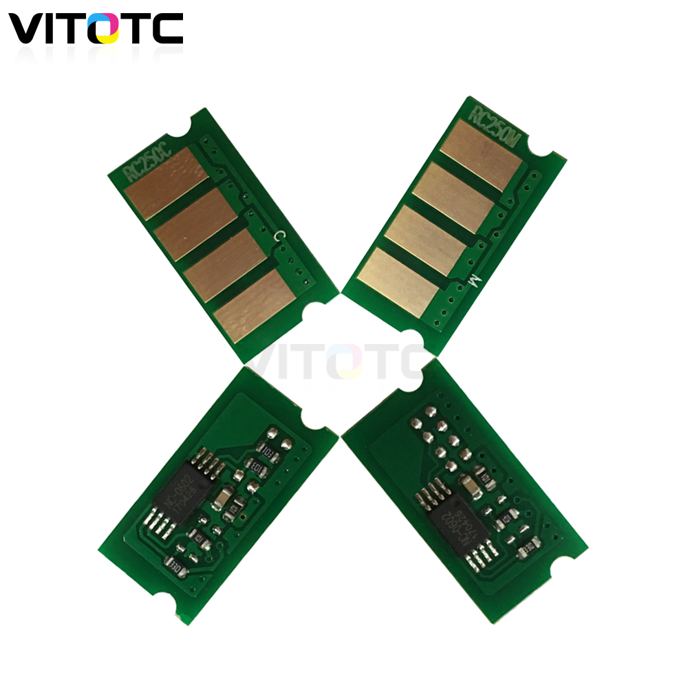 4pcs Reset Chip Compatible For Ricoh Aficio SPC220 SP C220 C222 C240 SPC222 SPC240 SP C240dn C240sf Toner Cartridge Chip Refill