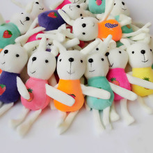 1pc Cute Girls Fluffy Fur Rabbit Keychain On The Bag Plush Pompom Anime Bunny Key Chain For Women Trinket Party Wedding Gifts