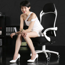Network gaming chair multi-function lifting office chancery boss chair lying rotation computer chair with waist pillow footrest