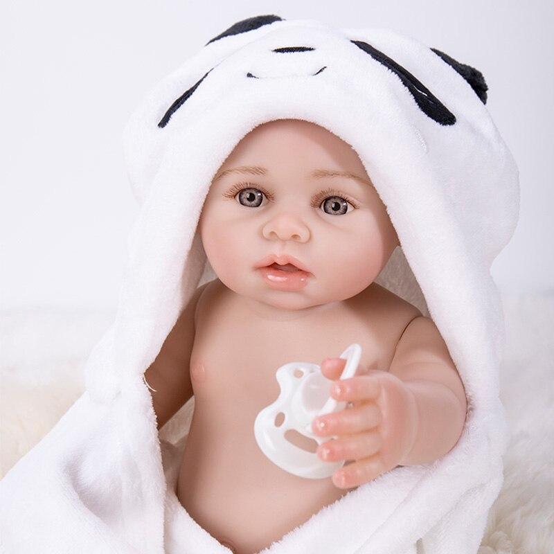 Bath Reborn, muñecos de bebé de cuerpo entero de silicona de vinilo para bebés recién nacidos, muñecas Boneca, juguetes Brinquedos para niños, regalos de cumpleaños - 4