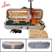 TONGLING New Artificial Leather Violin Case 4 4 W Hygrometer Foamed Violin Case