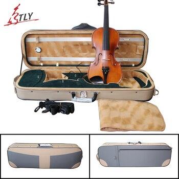 Tongling 새로운 인조 가죽 방수 바이올린 케이스/습도계 4/4 바이올린 바이올린 용 하이 엔드 바이올린 케이스