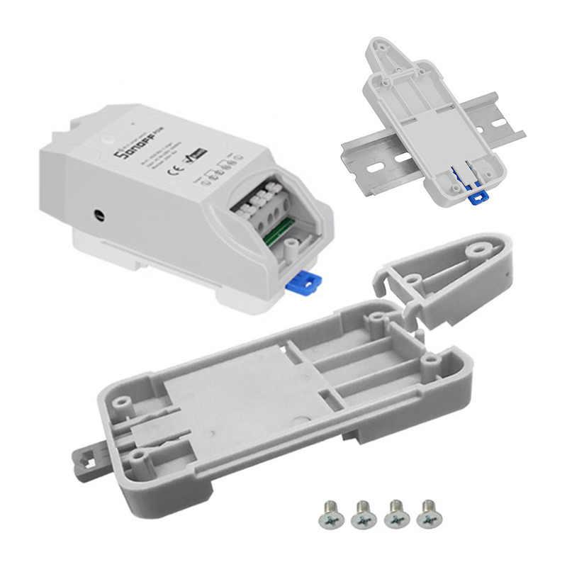 Pour Wifi télécommande interrupteur Sonoff Basic/RF/Pow/TH10/16 Sonoff DR-Sonoff Rail plateau réglable Rail monté