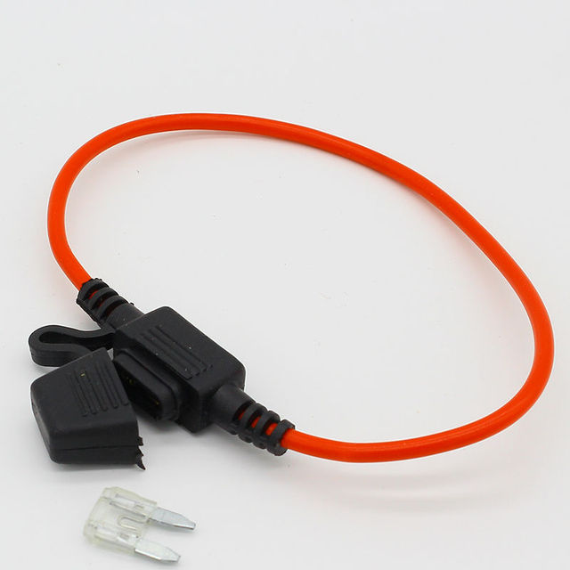 1pcs waterproof auto inline Mini In-Line Fuse Holder + 1pcs Fuse Inserts