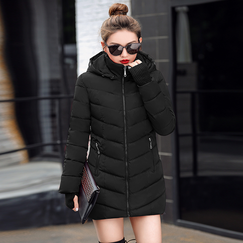 Warm Jacket Padded Outwear Long-Coat Thickened Plus-Size Cotton New-Fashion Turtleneck