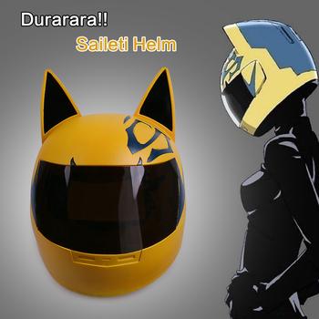 Maska Cosplay Anime DuRaRaRa! Kask Cos Dullahan Celty Sturluson kask silnika pcv dla dorosłych dla obu płci Halloween Party Prop tanie i dobre opinie Kostiumy Maski cosermart Unisex