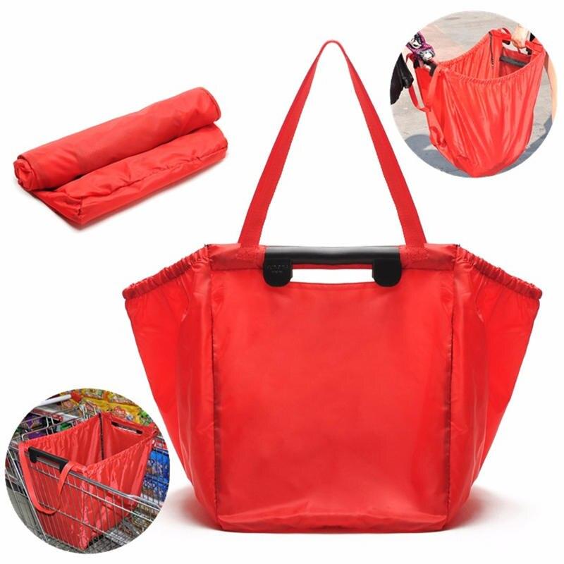 PACGOTH Réutilisable Sac Polyester Épicerie Sac Pliable Portable Supermarché Grande Capacité Shopping Chariot Grab Bag, 1 PC