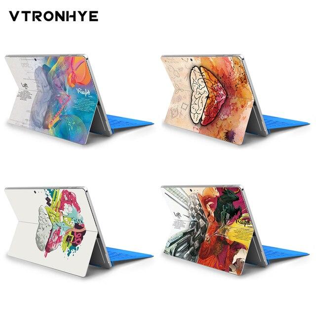 Pieles de ordenador portátil de cerebro coloreado para Microsoft Surface Pro 4 Pro 5 cubierta trasera antipolvo pegatinas de PVC para superficie pro 6 funda de piel
