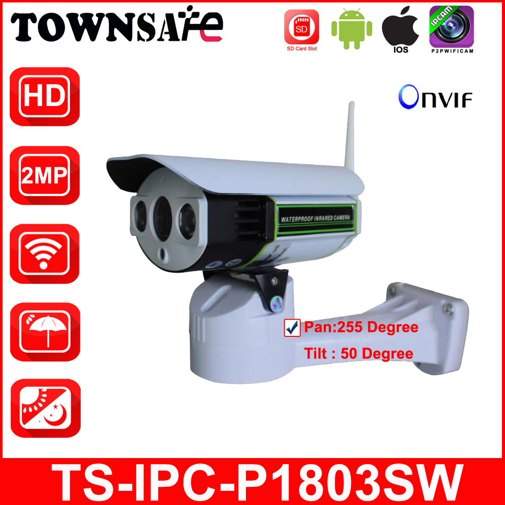 TOWNSAFE new SP-P1803SW Wireless Wifi Full HD 1080P 2.0MP CCTV TSCAM Bullet IP Camera Pan/Tilt ONVIF IR With SD Card Slot P2P bullet camera tube camera headset holder with varied size in diameter