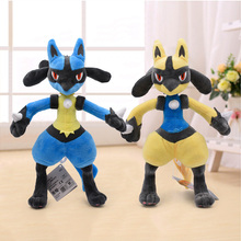 32cm 2Color Lucario Plush Doll Toys Cotton Cute Mega X&Y Soft Stuffed Animal Peluche Toy Gift For Children