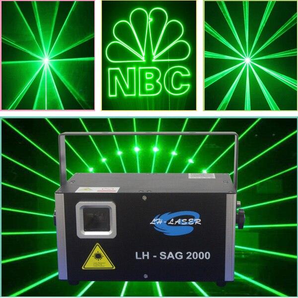Indoor Light Show: 2000mw Green Octopus Laser Light Effect Indoor Or Outdoor