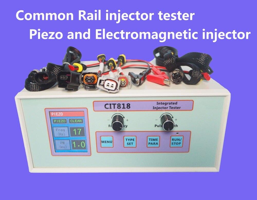 Große LCD CIT818 multifunktions diesel common rail injektor-prüfvorrichtung diesel Piezo-injektor elektromagnetische einspritzdüse fahrer