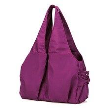Femmes sac grand fourre-tout en nylon large épaule sac Étanche Violet Vin Bleu lumière maman shopping sac carteira feminino borse XA260YL