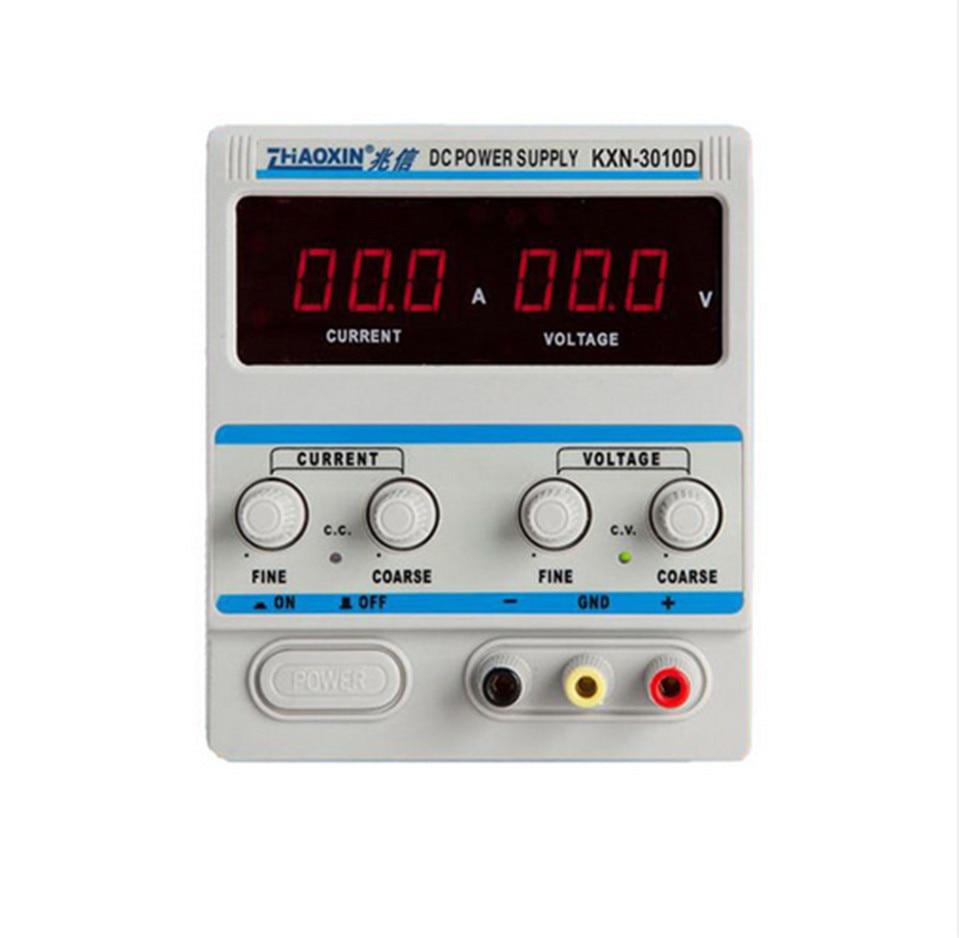 KXN-3010D Точность Переменная Регулируемый 30 В 10A DC Питание коммутации Мощность + DC преобразования головы