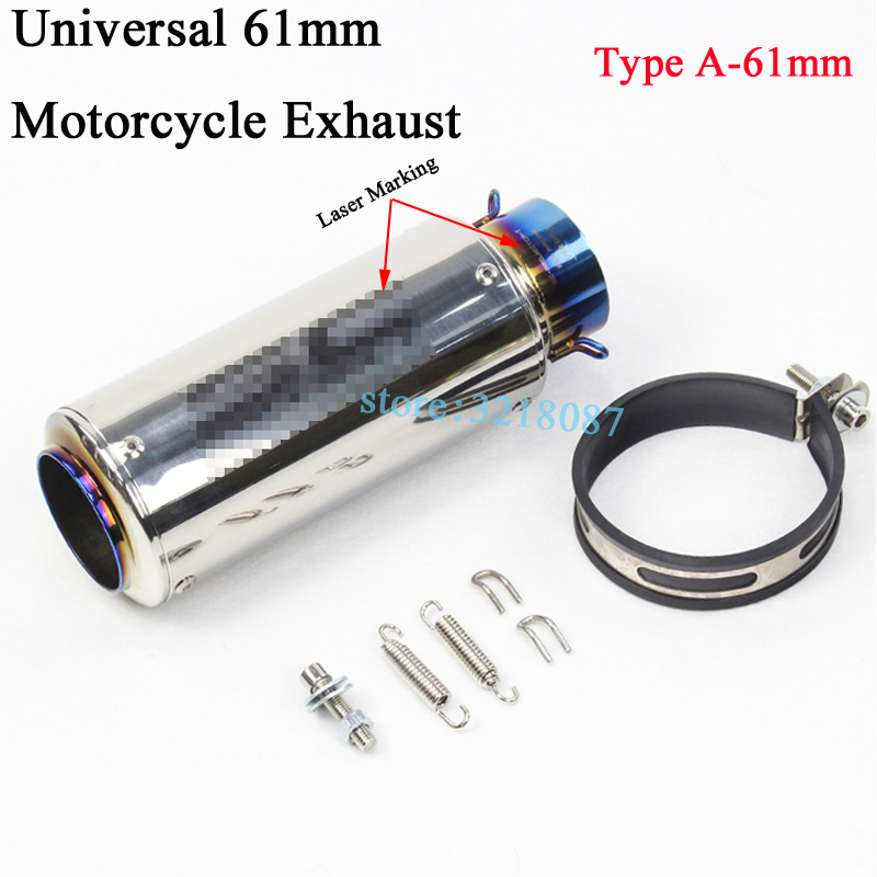Image 3 - Universal 51mm 61MM Motorcycle Exhaust Pipe Escape Modified Dirt Bike Laser Marking Muffler For CBR1000RR S1000RR Ninja300 R6-in Exhaust & Exhaust Systems from Automobiles & Motorcycles