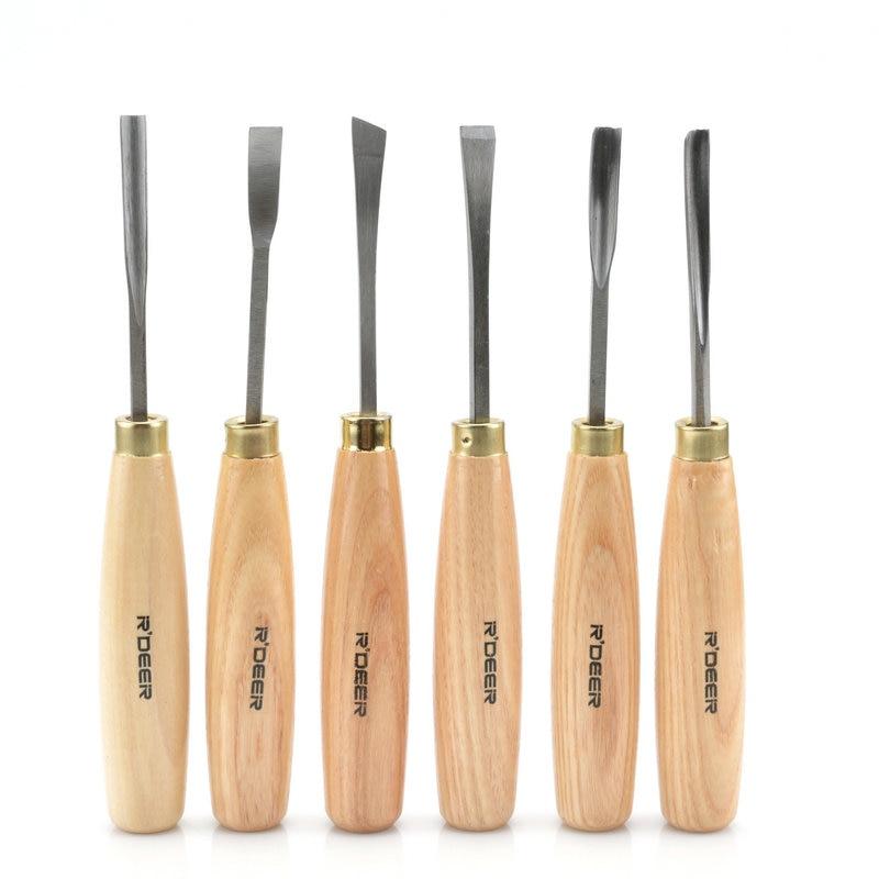 6Pcs Sculptural Chisel Set Wood Carving Tools Gouge Wood Chisel Woodwork Hand Tools