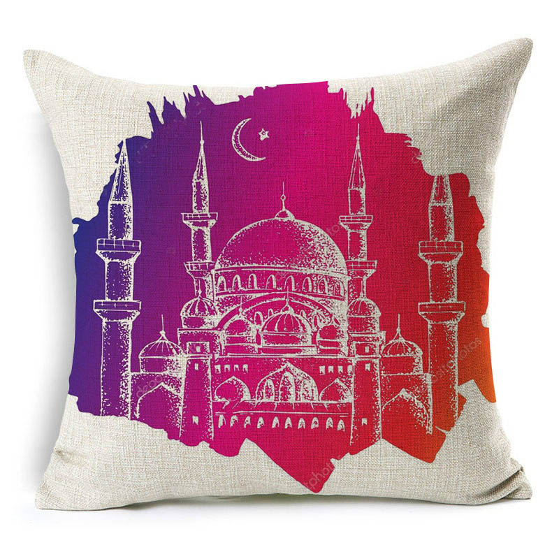 2019 45x45cm Muslim Pillow Case Cover Sofa Waist Cushion Cover Festival Ramadan Kareem Modern Islam Culture Simple Pattern NCD