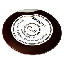 Singcall serviço sem fio botão de chamada, ultrafino único botão de chamada para café, restaurante ape700 branco
