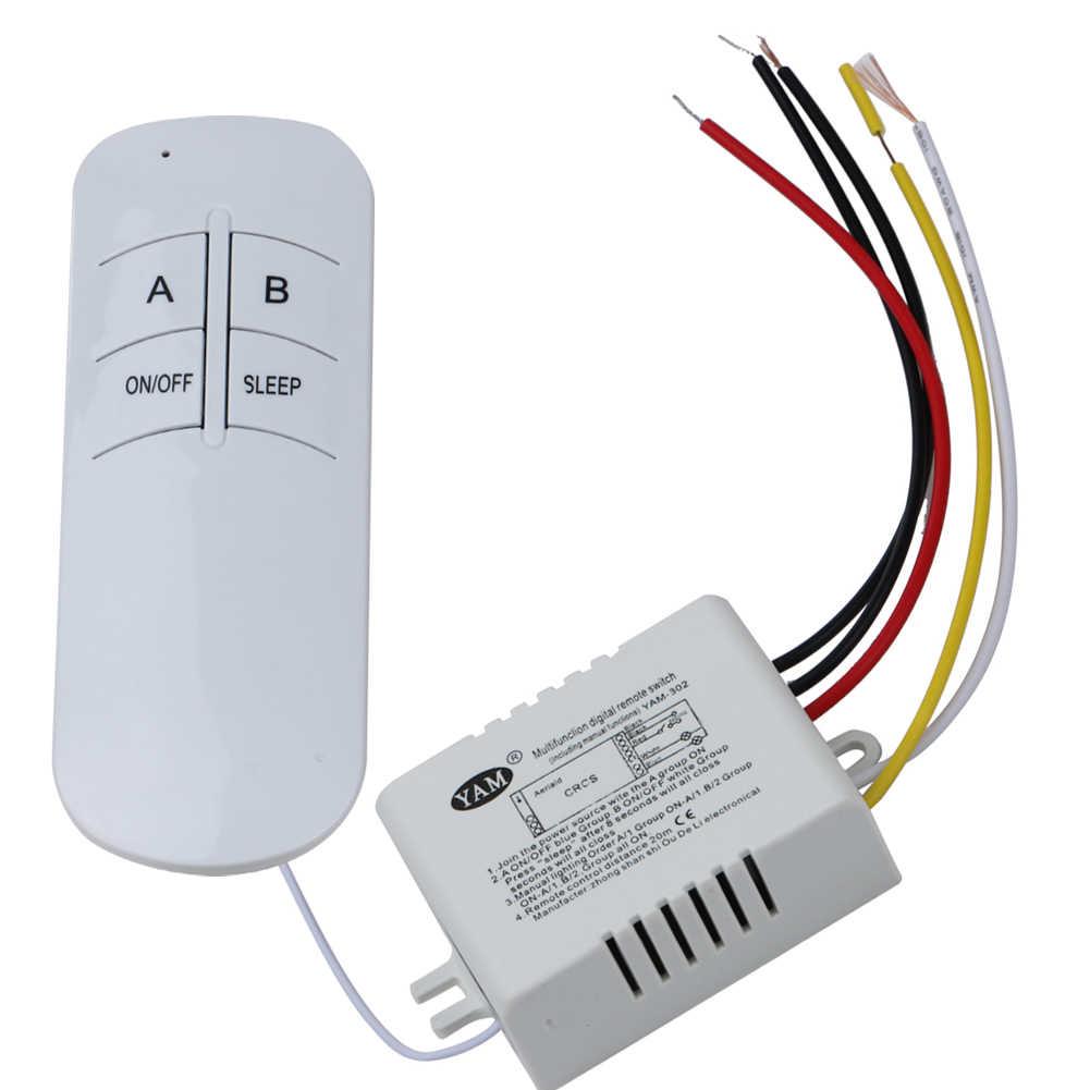 3 порта 220 В лампа пульт дистанционного управления беспроводной ВКЛ/ВЫКЛ 220 В лампа дистанционное управление переключатель приемник передатчик для лампочки лампы