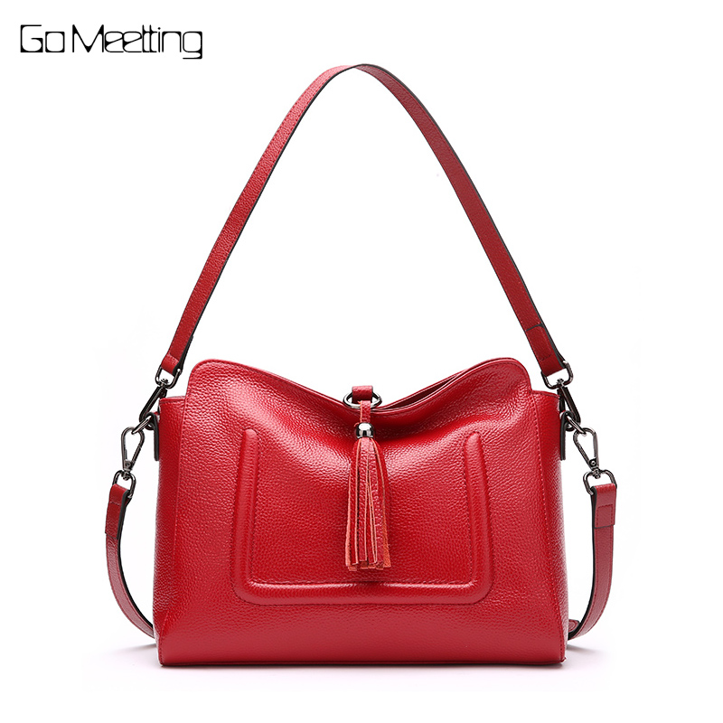 Go Meetting Brand Fashion Genuine Leather Bag Women Messenger Bags Bolsa Handbags Sac a Main Bolsos Mujer Shoulder Crossbody Bag women luxury handbags brand ladies pu leather shoulder bag handtassen sac a main female popular crossbody bags bolsos mujer