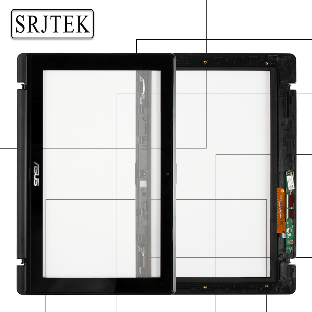 Srjtek 11.6'' For Asus Vivobook X200MA X200CA X200LA Digitizer Touch Screen Glass with Frame TCP11F16 V1.1 13NB02X6AP0201 touch screen digitizer glass for asus vivobook v550 v550c v550ca tcp15f81 v0 4
