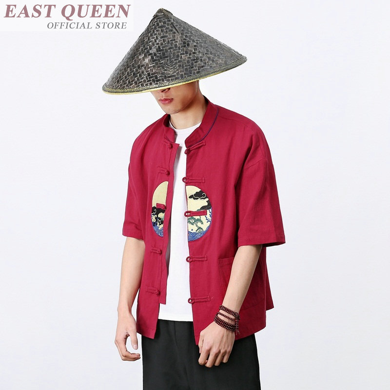 Bescheiden Shang Hai Tang Casual Shirt Chinese China Traditionele Chinses Kleding Voor Mannen Online Chinese Winkel Shang Hai Tang Ff667 Een