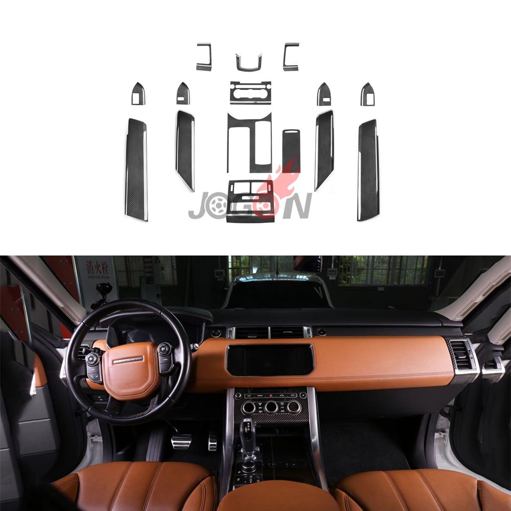 For Land Rover LR Range Rover Sport L494 2014 2017 Car Central Console Gear Shift Interior Door Panel Air Vent Trim 15pcs LHD