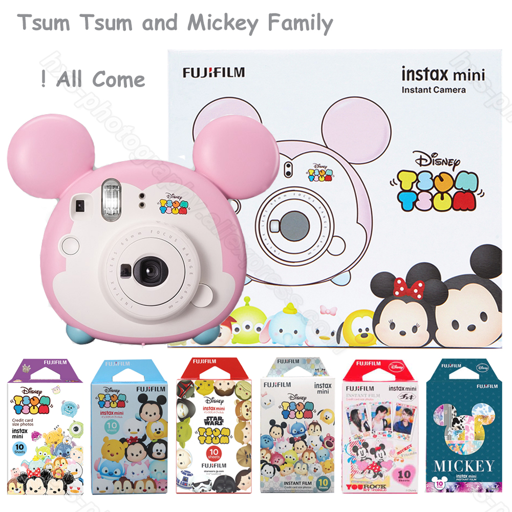 Fujifilm Instax Mini Instant Film/Camera Tsum Tsum, Mini Film for 9 8 8+ 70 90 7s 7 50s 25 Share Printer SP-1 SP-2 Polariod 300