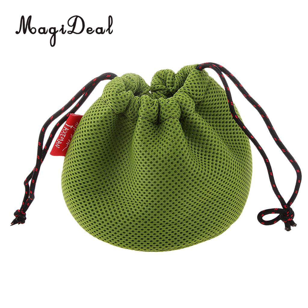 Green MagiDeal Thicken Mesh Cloth Storage Bag for Outdoor Camping Pot Pan Set