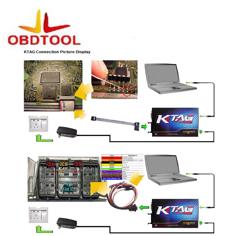 ObdTooL KTAG K-TAG ECU Programming Tool Latest Software Version V2.23 V7.020 KTAG K-TAG ECU Update by Email