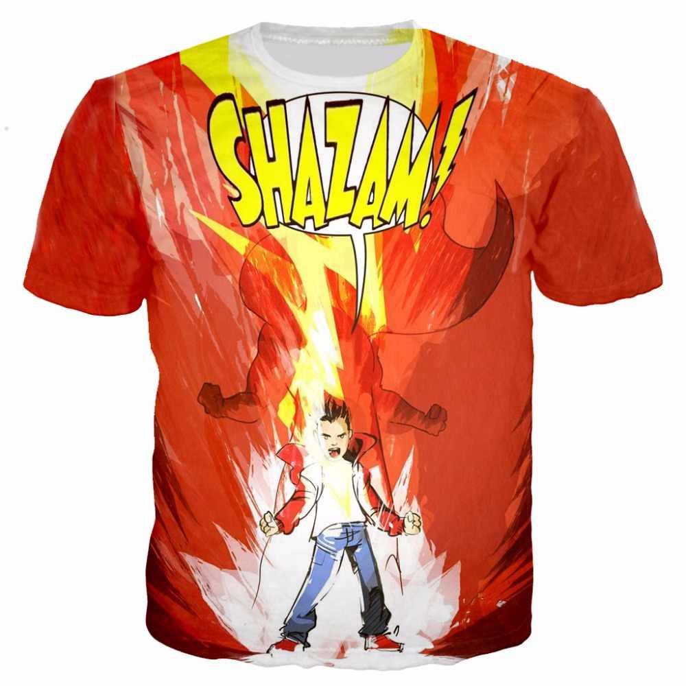 572c272a 2019 Newest super hero Shazam 3D Printed T shirts Men shirt Cartoon  Rick&Morty tees kids Simpson