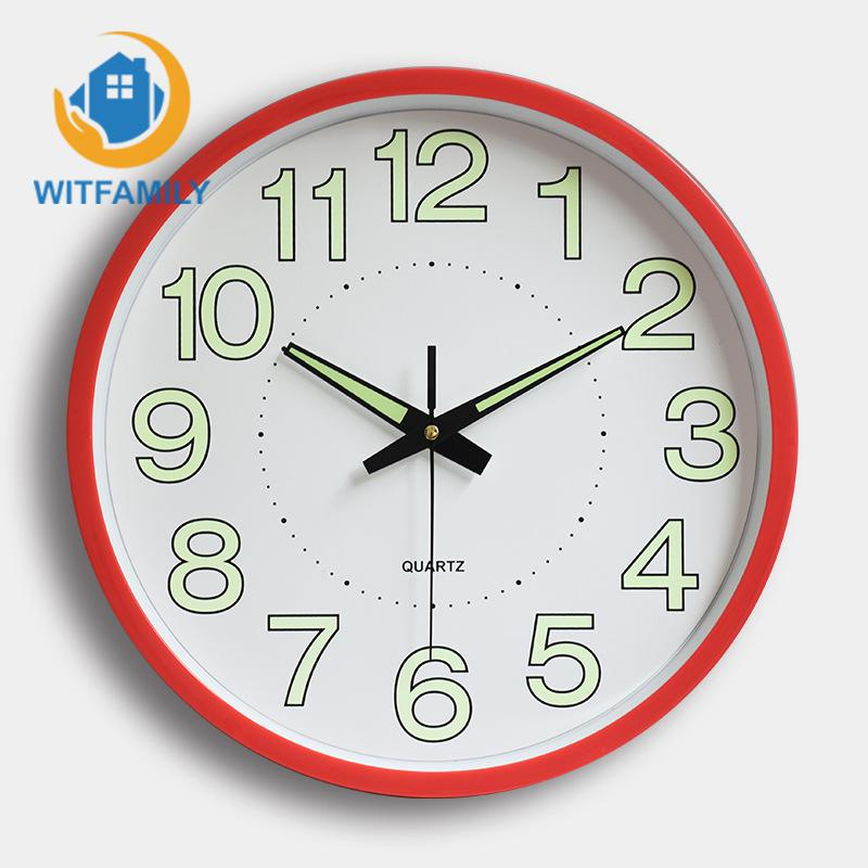 12 Inches 30CM Night Wall Clock Quartz Watch Bedroom Home Decorative Fashion Needle Table Simple Clock Custom Mute Personality