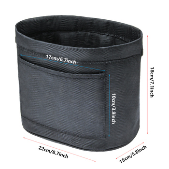 NEW Universal Environmentally cloth car trash can Oxford cloth thickening Car storage storage bag portable Velcro garbage bag