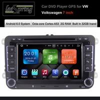 Android 6 0 Two Din 7 Inch Car DVD Player For VW Volkswagen POLO PASSAT Golf