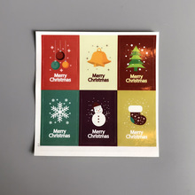 10set/60pcs 3x4.5cm Christmas stickers packaging gift wrapping Baking Package paper sealing labels customized