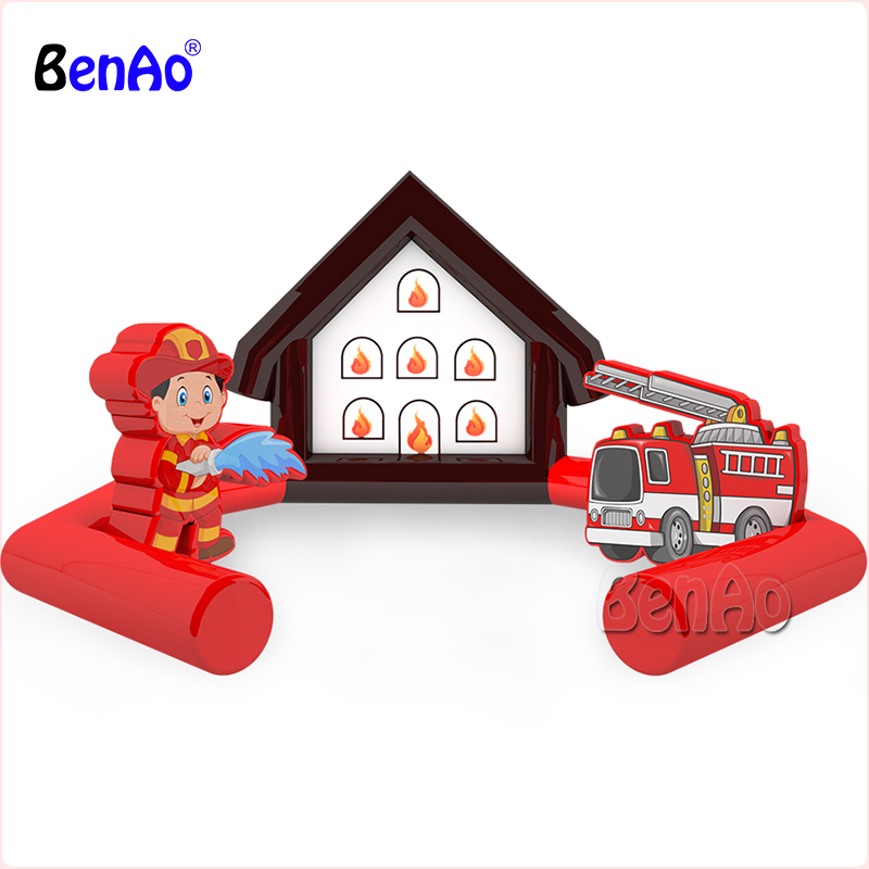 AA0112 BENAO Free shipping Inflatable fire department center/inflatable fire house for sale