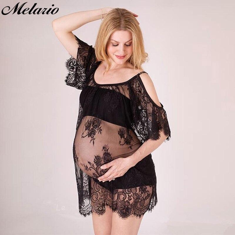 Maternity Dress Photo Shoot lace dress pregnant dress women pregnant photography props transparent lace dress pregnancy pajamas