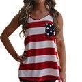 Новая Мода лето 2016 женщин танки полоса лук задний карман жилет бантом женский топы Красный синий Черный Бесплатная доставка