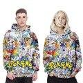 2017 homens da moda primavera mulheres pokemon 3d camisola hoodies dos desenhos animados personagem impressão unisex streetwear casual clothing do amante