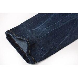 Image 5 - Enjeolon brand men denim jeans 긴 trousers men jeans pants 면 망 jeans pants 수컷 denim 인과 진 옷 K6003