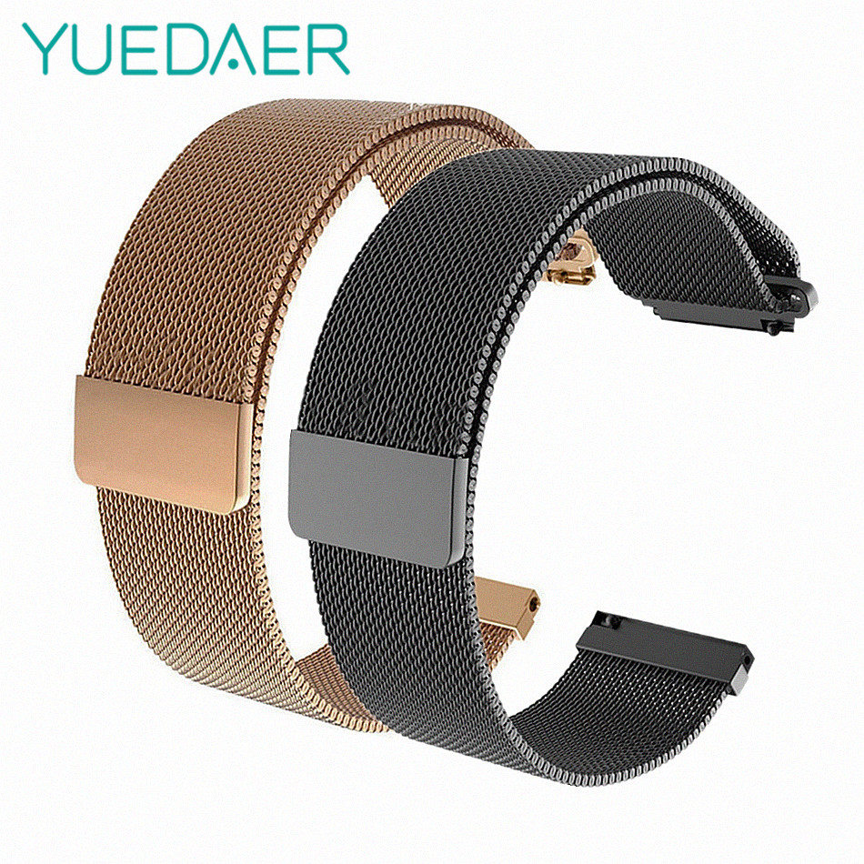 Metal Milanese Loop Band for Xiaomi Huami AMAZFIT Bip strap 20MM 22MM wrist  band belt for Samsung Gear S3 Classic Frontier Strap c342f59abf5f
