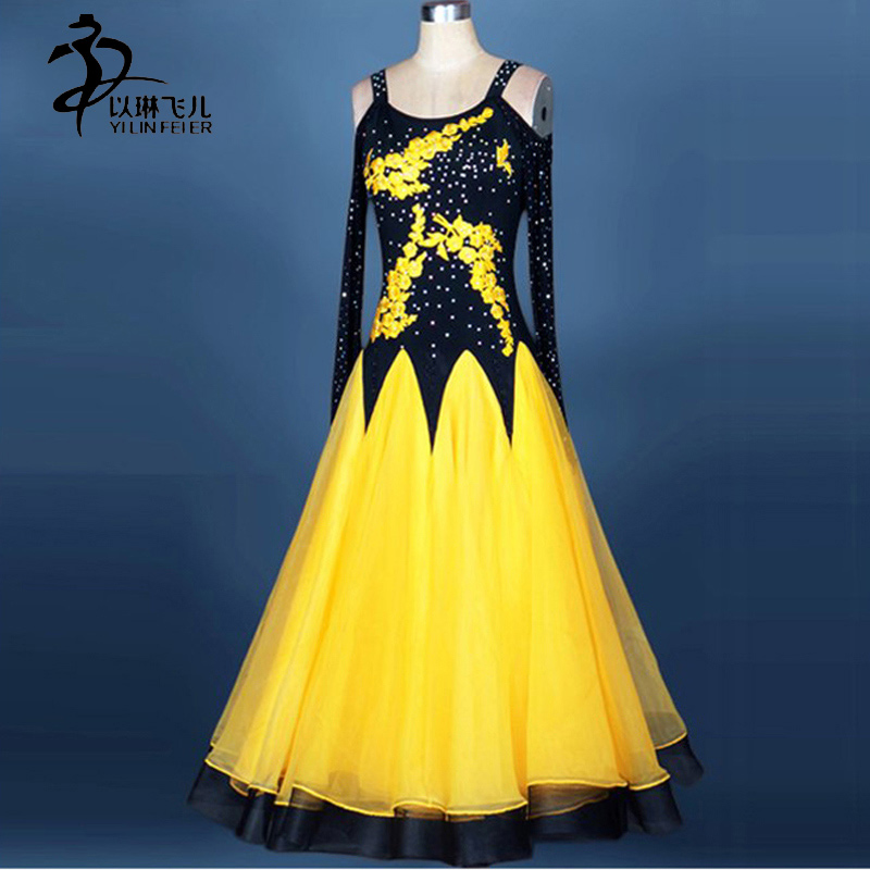 Ballroom Dance Competition Dresses Women Standard Ballroom Waltz Dress Girls Customized Ballroom Waltz Tango Costume