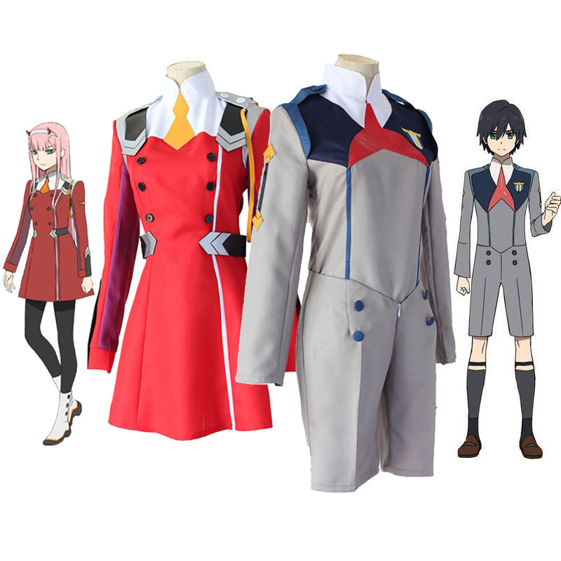 DARLING in the FRANXX  02 Cosplay Costume Outfit Halloween Dress Uniform Suit